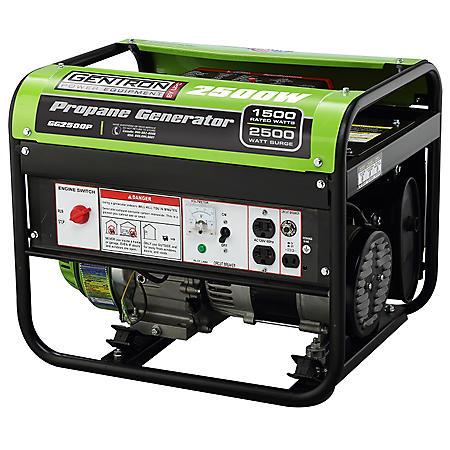 Gentron 1,500 / 2,500 Watt Propane Powered Generator
