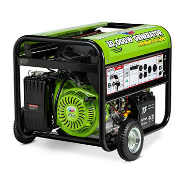 Gentron 7,500 / 10,000 Watt Propane Generator with Electric Start
