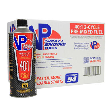 VP Small Engine Fuels 40:1 Premixed Fuel (8-pack / 32-ounce bottles)