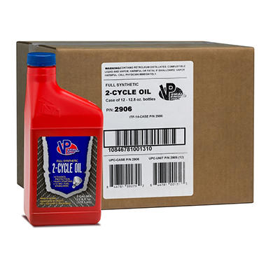 VP Small Engine Fuels Synthetic 2-Cycle Oil (12-pack / 12.8-ounce bottles)