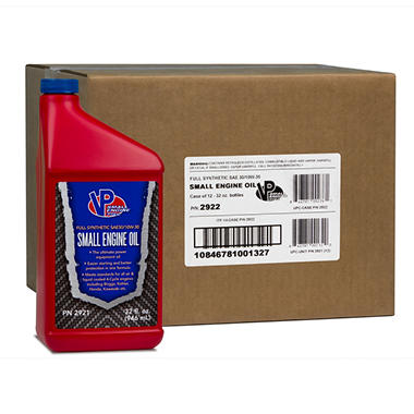VP Small Engine Oil Full Synthetic SAE 30/10W30 Engine Oil (32 oz. 12-pk.)