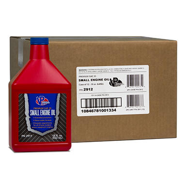 Vp Small Engine Oil 4 Cycle Sae 30w Engine Oil 12 Pack 18 Ounce