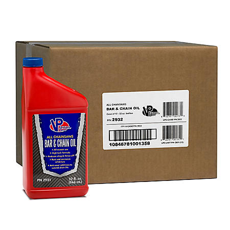 VP Small Engine Fuels Bar & Chain Oil (12-pack/32oz bottles)