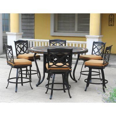 Heirloom Slate High Dining Set 7 pc Sams Club