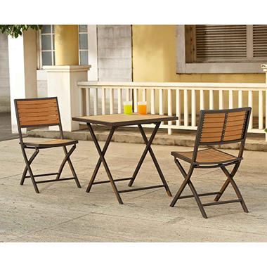 Walnut Bistro Set