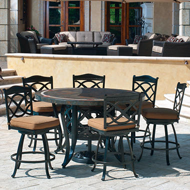 Heirloom Slate Outdoor Patio Dining Set - 7 pc, Original Price $999.00