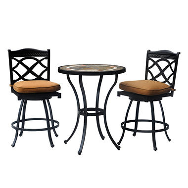 Heirloom Outdoor Patio Bistro Set   3 Pc