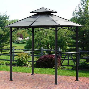 Sunjoy Thompson Hardtop Grill Gazebo 8 X 4 9 Sam S Club