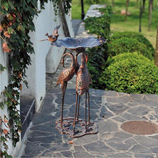 Sunjoy Crane Bird Bath