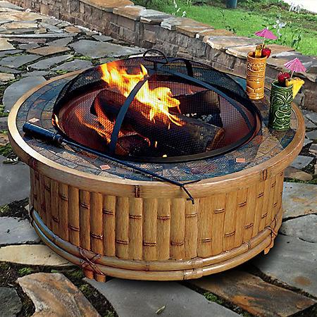 "Tiki Wood Fire Pit - 36"""