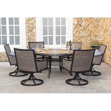 Dining Set With Premium Sunbrella® Fabric