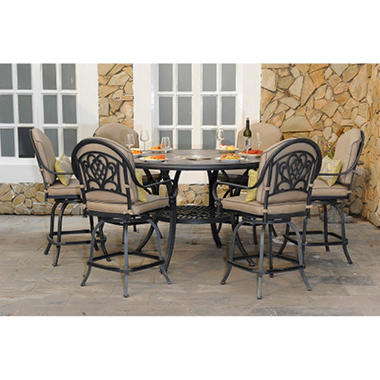 Counter Height Dining Set With Premium Sunbrella® Fabric