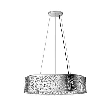 Artika Crystal Ellipse Semi-Flush Pendant Light Fixture