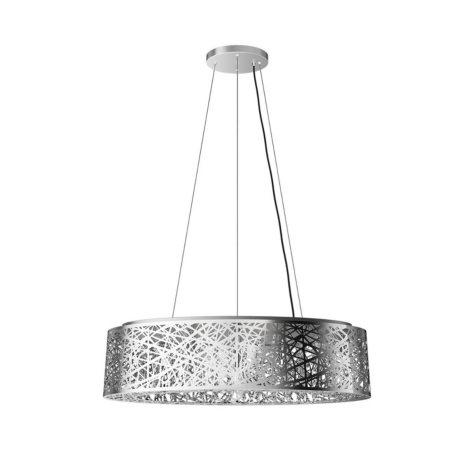 Artika Crystal Ellipse Semi-Flush Pendant Light Fixture