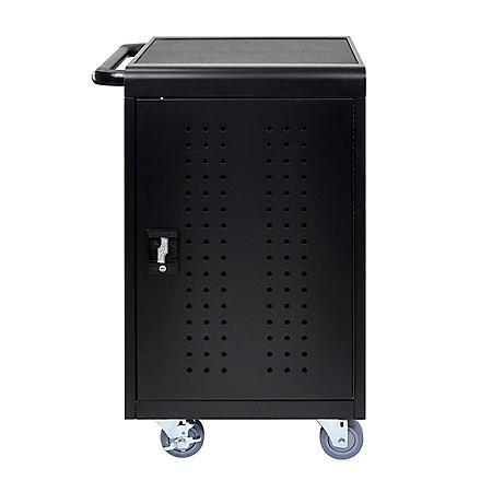 Luxor Black 30 Computer Tablet Charging Cart