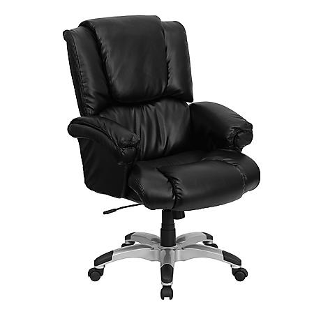 Flash Furniture High Back Leather Overstuffed Executive Chair Black