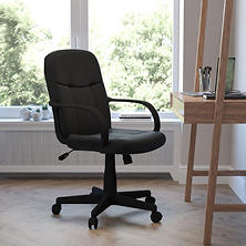 Flash Furniture Mid-Back Glove Executive Office Chair, Black