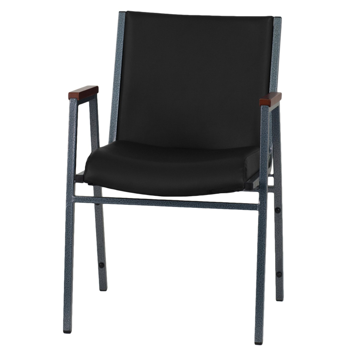 Hercules Padded Vinyl Stacking Chair with Arms Black Sam s Club