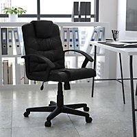 serta manager s office chair black supports up to 250 lbs