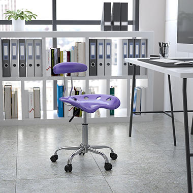 Flash Furniture Tractor Seat Task Chair Violet