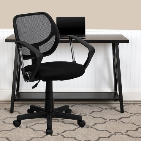 Flash Furniture Mid-Back Mesh Task Chair with Arms (Various Colors)