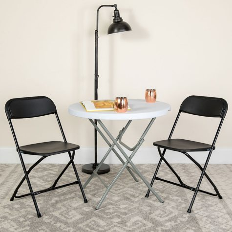 Hercules Premium Folding Chair, Black