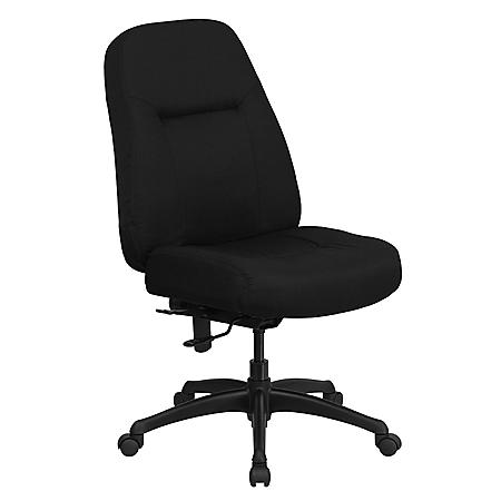 Flash Furniture Hercules Series High-Back Big & Tall Office Chair, Black (Supports up to 400 lbs.)