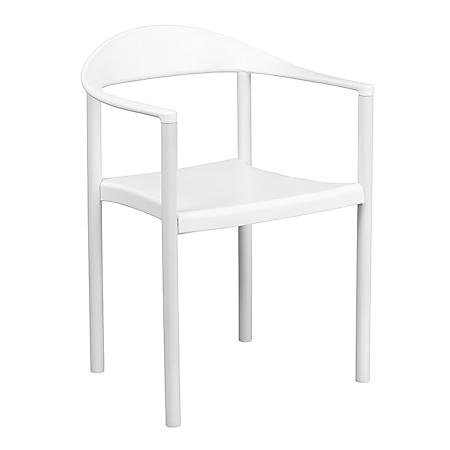 Flash Furniture Hercules Series Plastic Cafe Stack Chair White