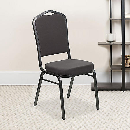 Flash Furniture Hercules Series Crown Back Fabric Banquet Chair, Gray