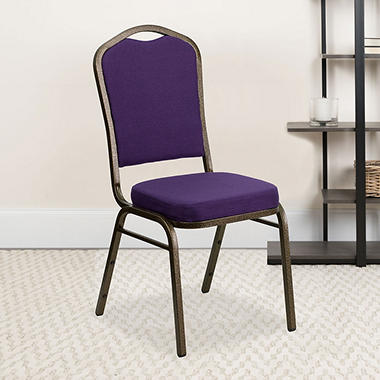 Flash Furniture Hercules Series Crown Back Fabric Banquet Chair, Purple (Select Quantity)