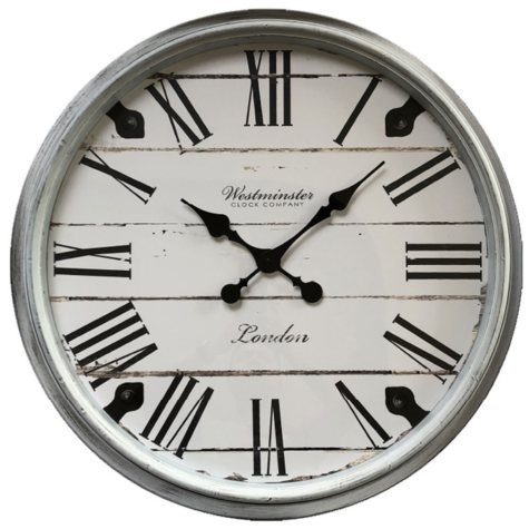 "Oversized 30"" Wall Clock (Assorted Colors)"