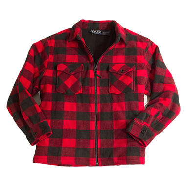 PLAID JKTRED M .COM ONLY DSV