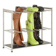 Honey-Can-Do Boot Rack (Silver/Brown)