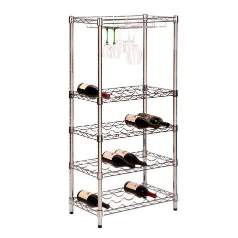 Honey-Can-Do 5-Tier Urban Wine Rack (Chrome)