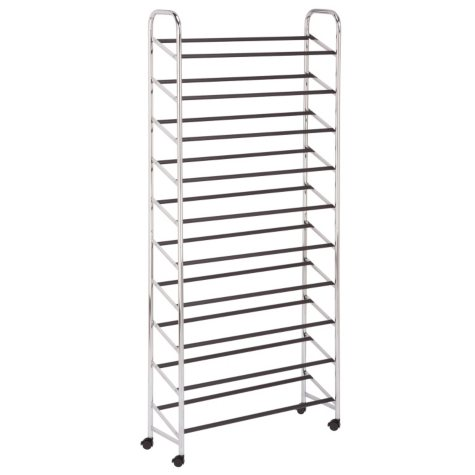 Honey-Can-Do Rolling Shoe Tower (Chrome)