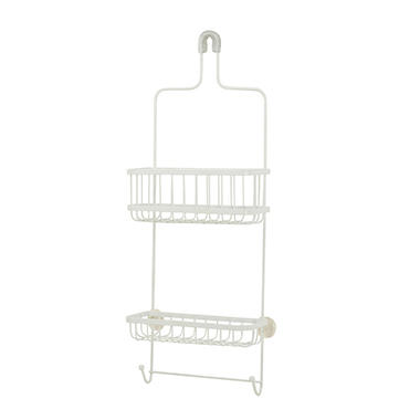 Honey-Can-Do Steel Shower Caddy, White