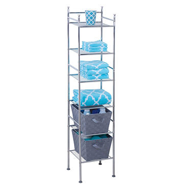 Honey-Can-Do 6-Tier Space Saver Shelf, Chrome