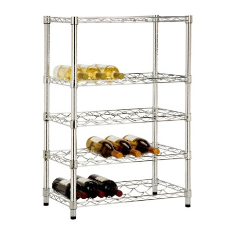 Honey-Can-Do Adjustable Wine Rack (Chrome)