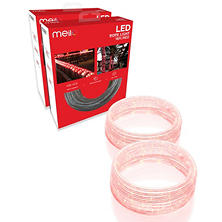 Meilo 2PK of 16FT LED Rope Light- Red