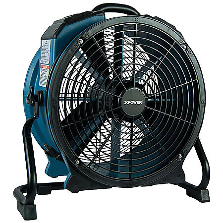 XPOWER X-47ATR Pro 3600 CFM Axial Air Mover/Dryer/Fan w/ Timer and Power Outlets