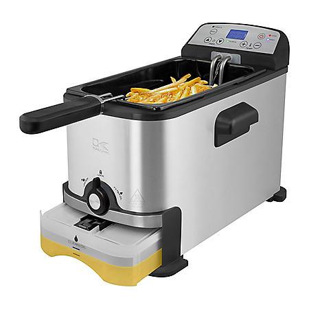 Kalorik 3.2 Quart Digital Deep Fryer with Oil Filtration