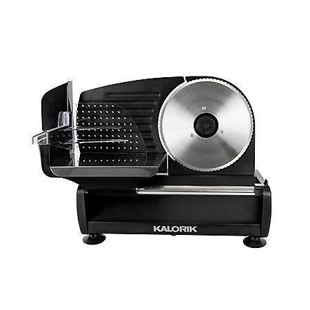 Kalorik 200 Watt Professional Food Slicer, Black