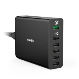 Anker Quick Charge 6-Port USB Wall Charger (Black)