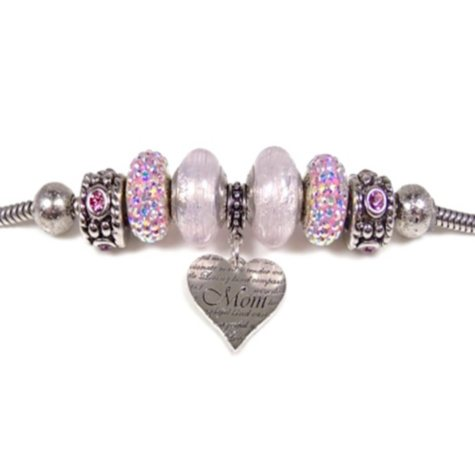 Pink Mother's Day Bead Bracelet