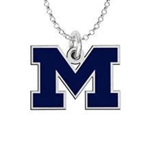 Fiora Michigan Sterling Silver Logo Necklace (Assorted Styles)