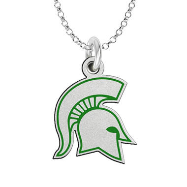 Fiora Michigan  State Sterling Silver Logo Necklace (Assorted Styles)