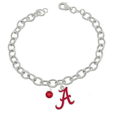 Fiora Alabama Sterling Silver Link Chain Bracelet (Assorted Styles)