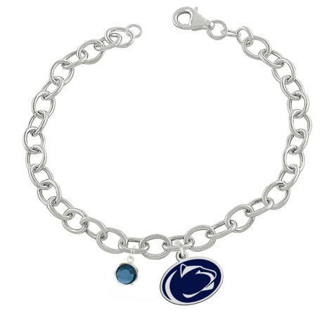 Fiora Penn State Sterling Silver Link Chain Bracelet (Assorted Styles)