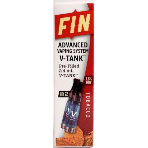 FIN Advanced Vaping V-Tank Refill Tobacco (2 pk.)
