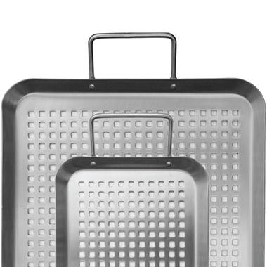 Backyard Classic Professional Gourmet Stainless Steel Grilling Trays